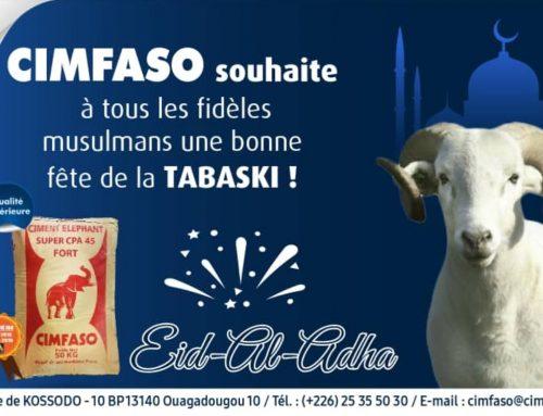 CIMFASO VOUS SOUHAITE BONNE FÊTE DE LA TABASKI
