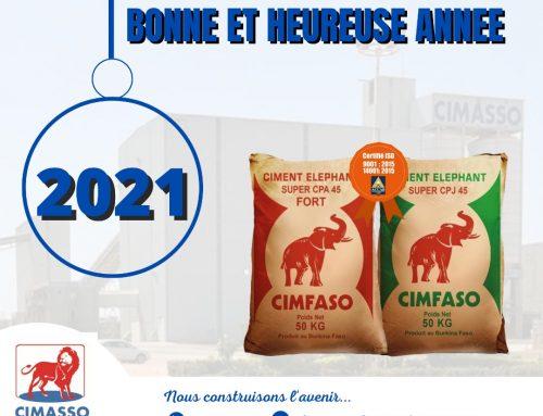 CIMASSO vous souhaite une très bonne année 2021!