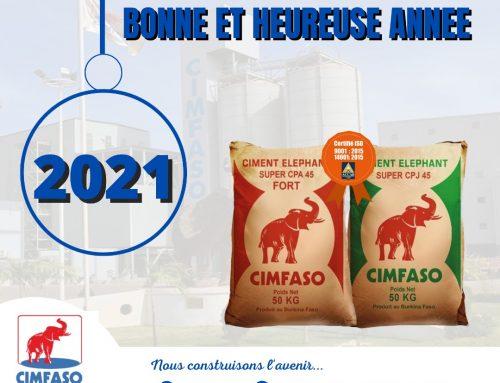 CIMFASO vous souhaite une très bonne année 2021!